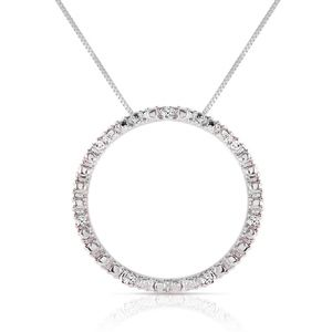 14K. SOLID GOLD DIAMONDS CIRCLE OF LOVE NECKLACE